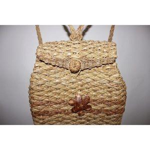 Bags - Handmade Straw Woven Basket Back Pack